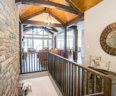 dream home foyer and great room
