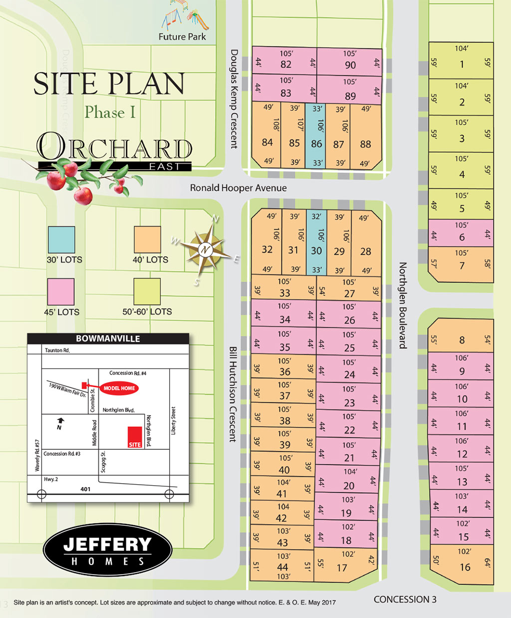 Orchard East Phase 1 Siteplan
